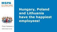 Hungary, Poland and Lithuania have the happiest employees!